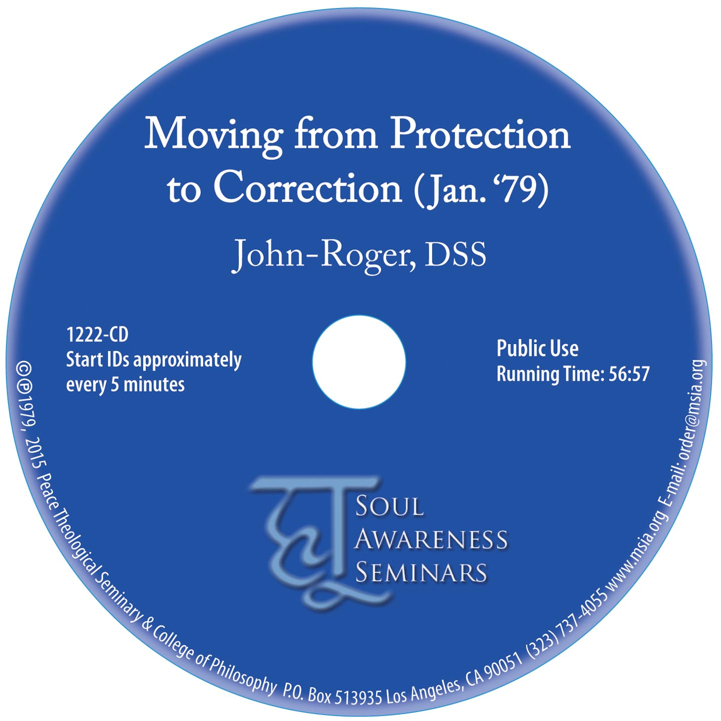 Moving from Protection to Correction  CD