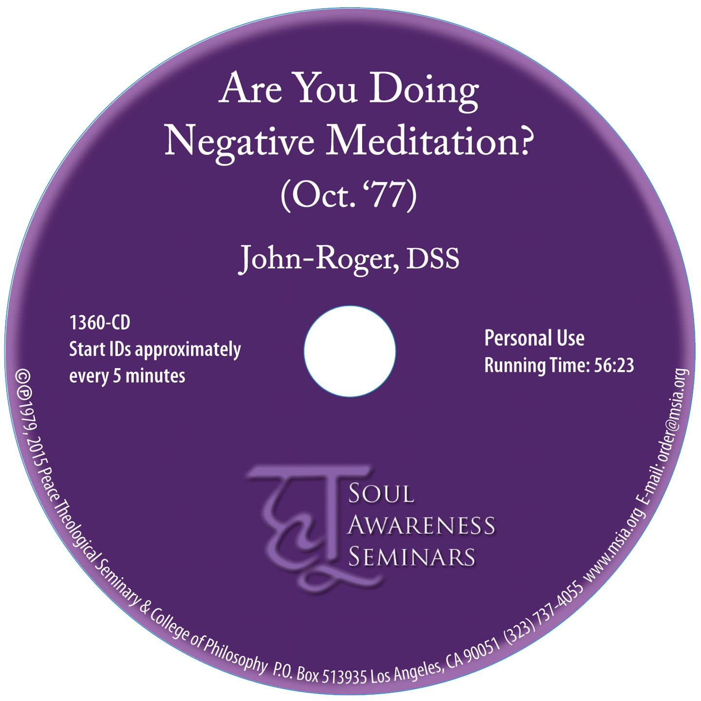 Are you Doing Negative Meditation CD