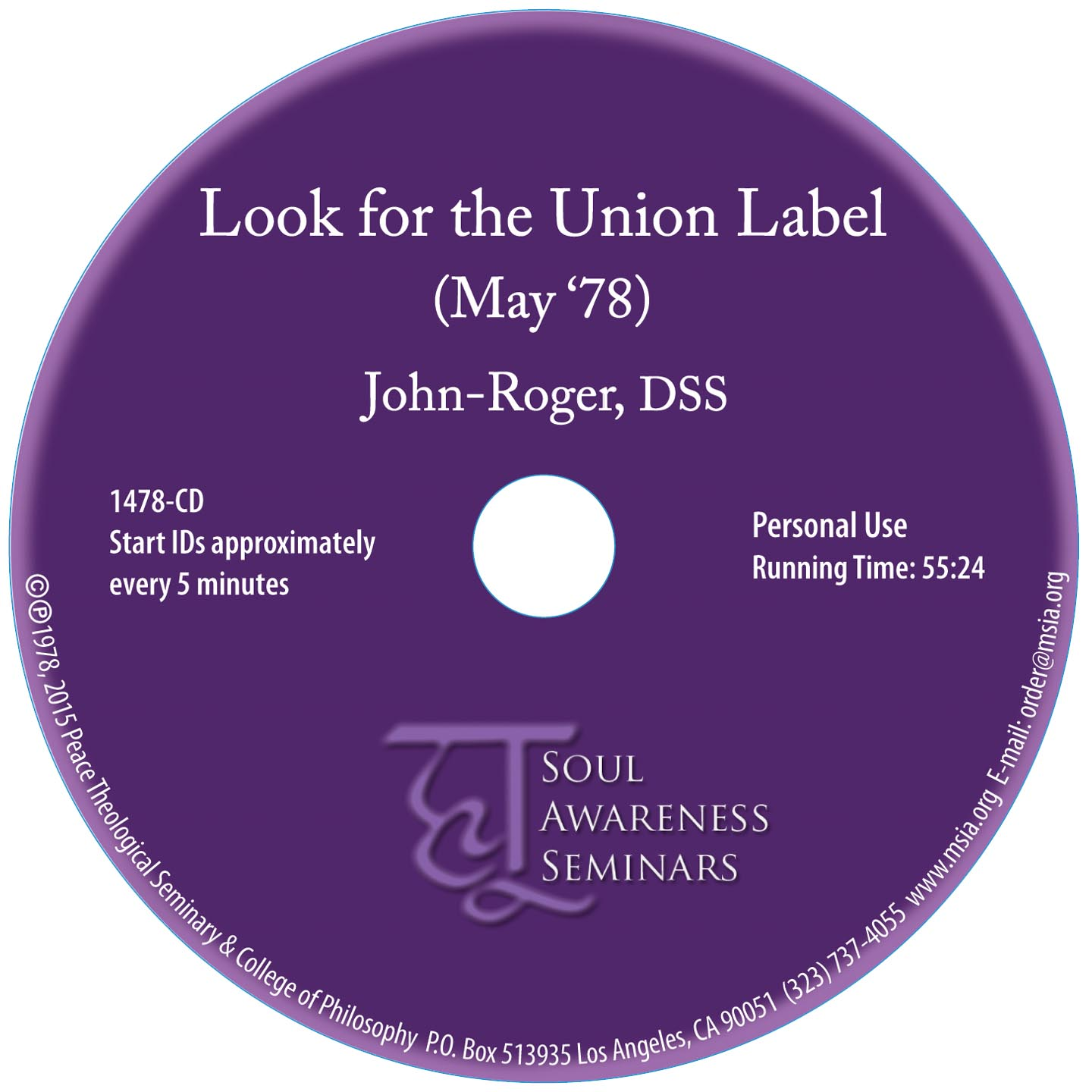 Look for the Union Label CD