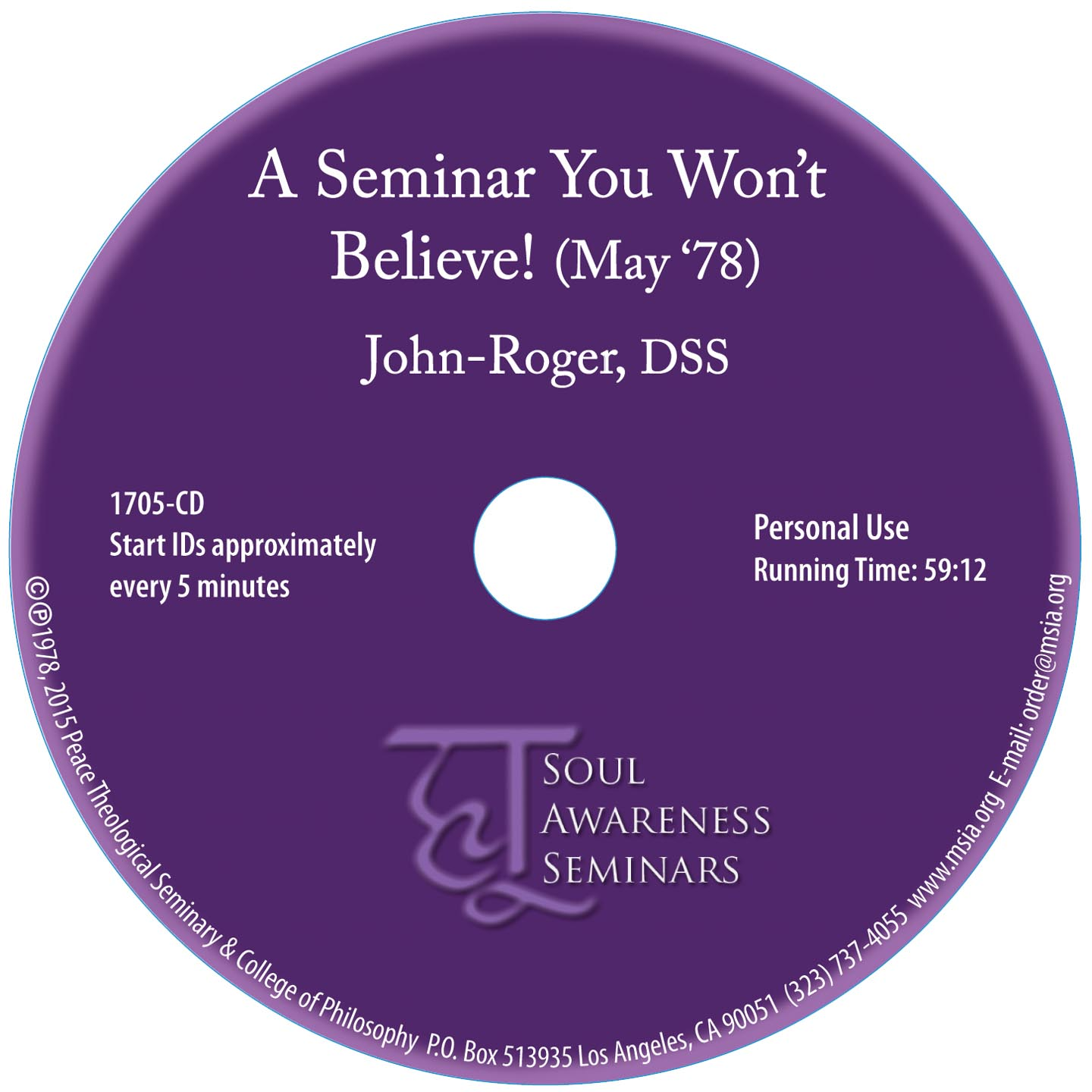 A Seminar You Won't Believe! CD
