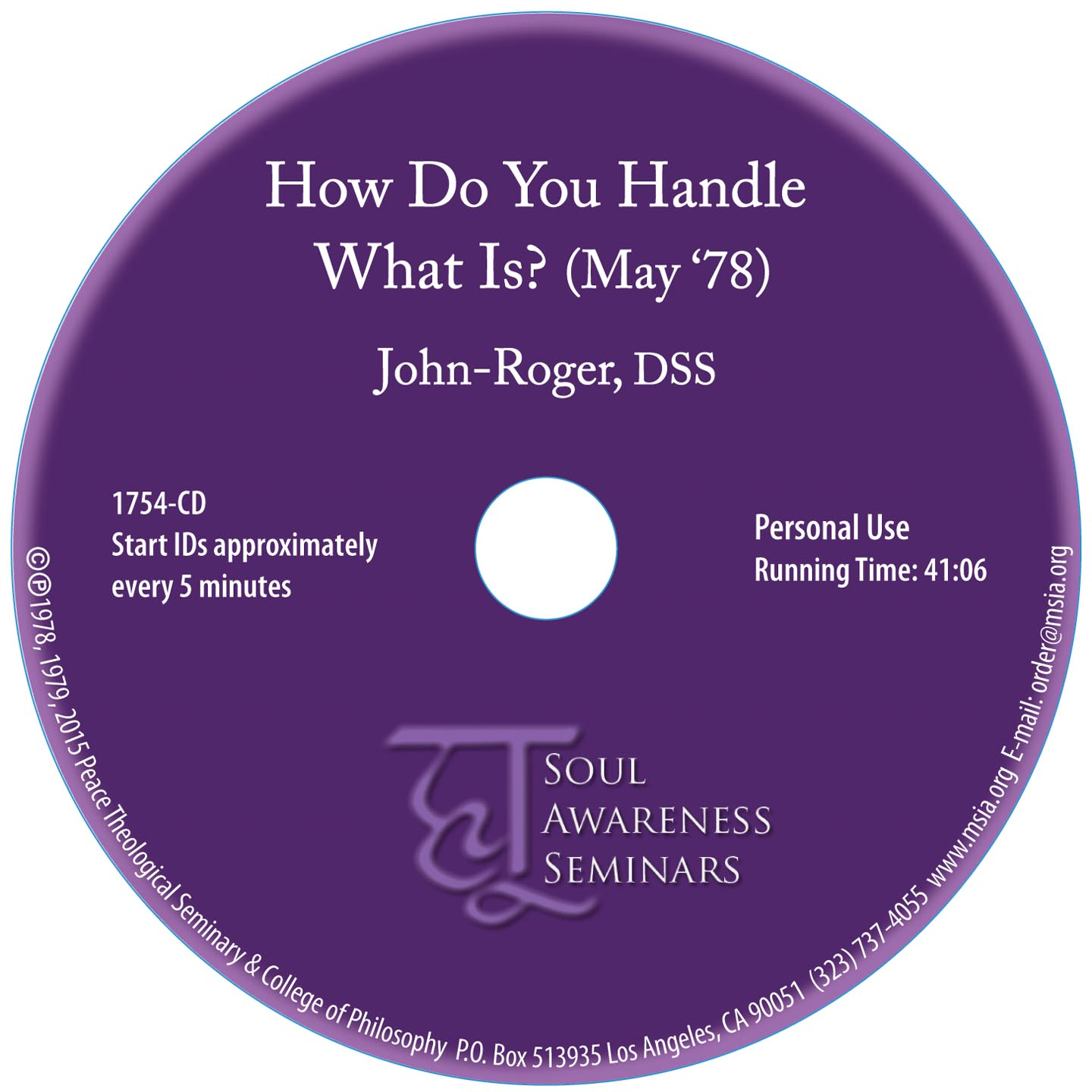 How Do You Handle What Is?  CD