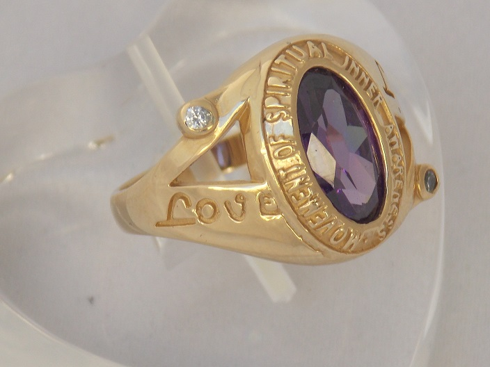 Love and Light 14 K Yellow Gold Ring