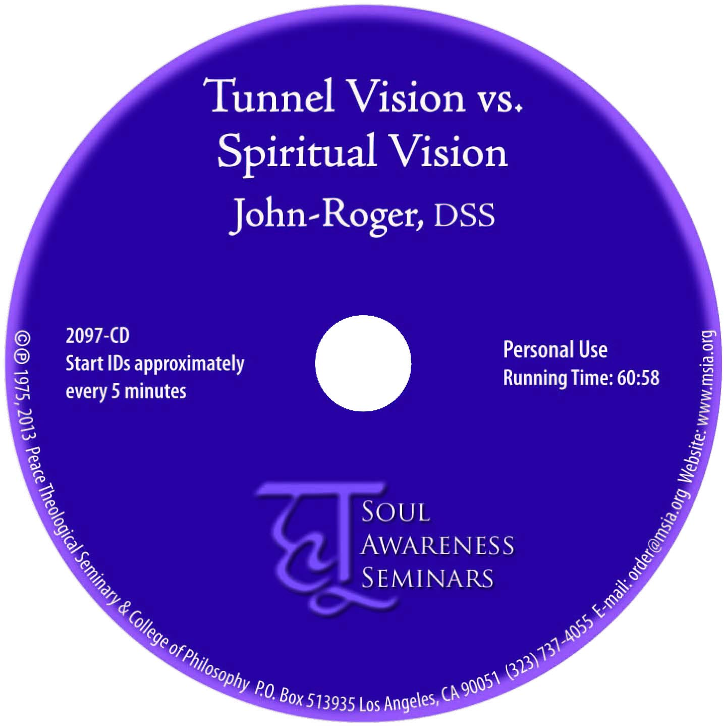 Tunnel Vision vs. Spiritual Vision MP3