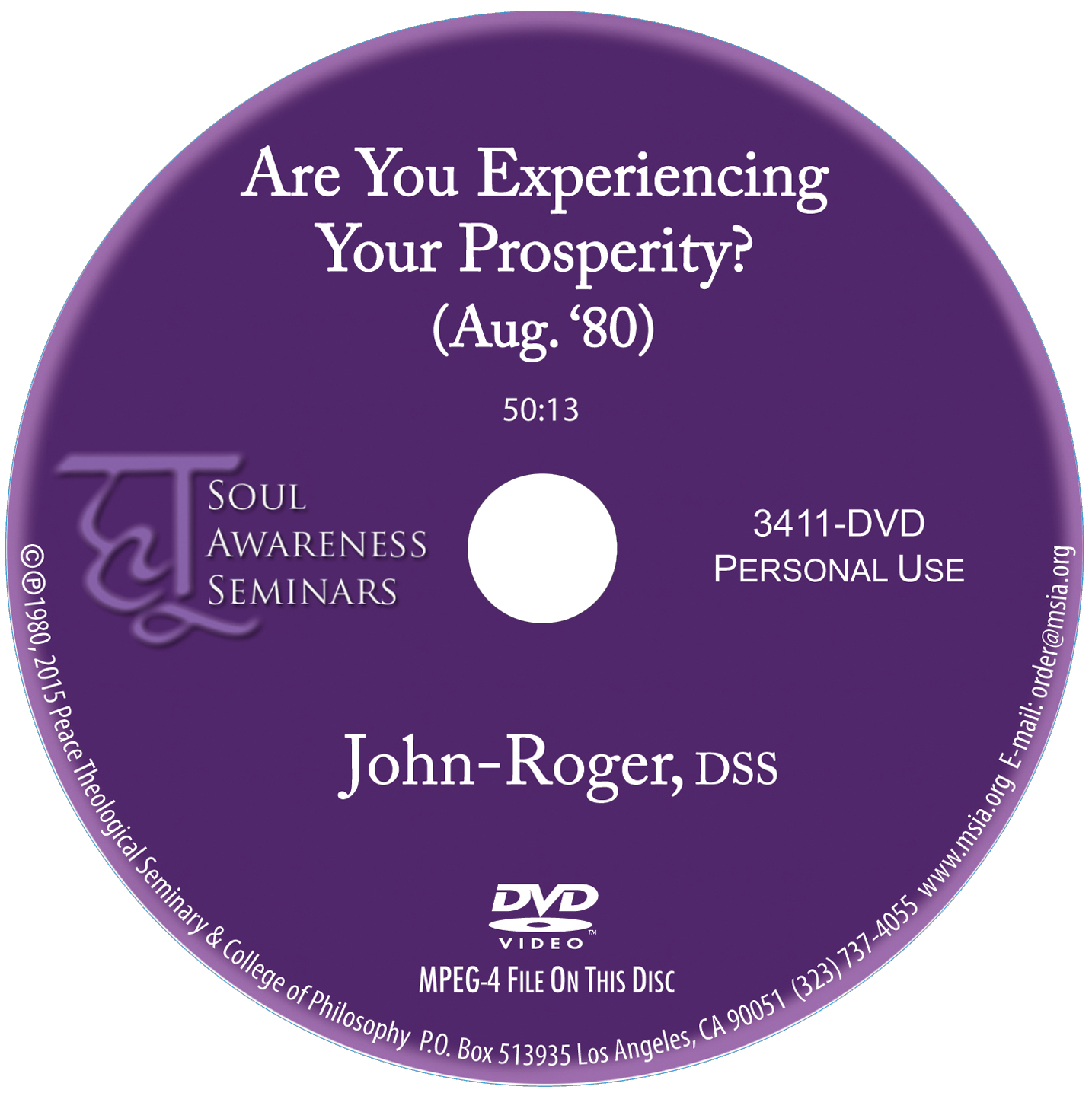 Are You Experiencing Your Prosperity? DVD