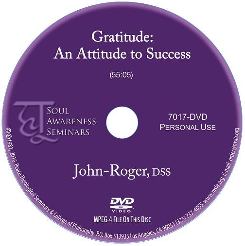 Gratitude: An Attitude For Success DVD