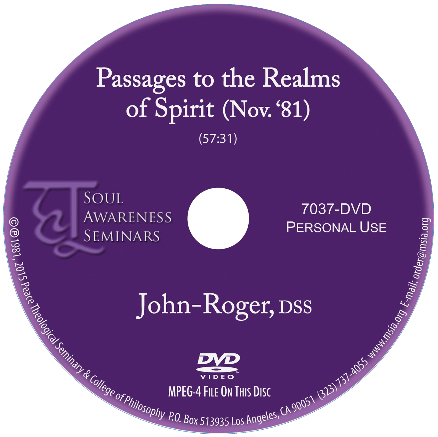 Passages to the Realms of Spirit DVD