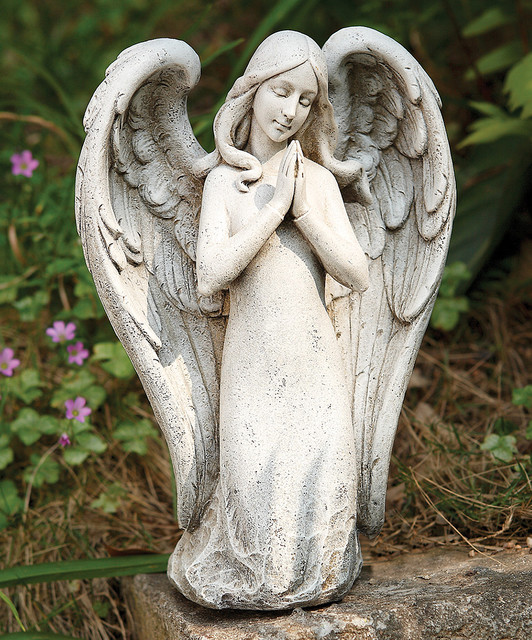 "10""H Kneeling Contemporary Angel"