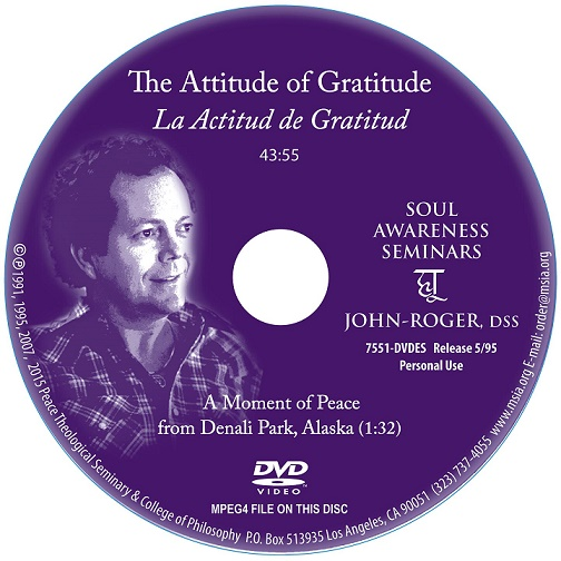 The Attitude Of Gratitude DVD