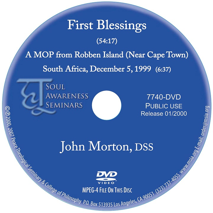 First Blessings DVD