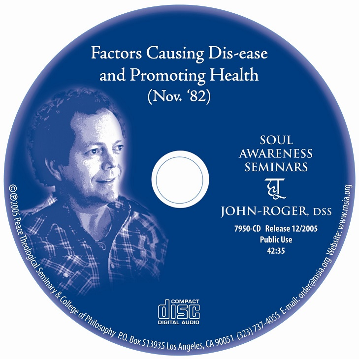 Factors Causing Dis-ease and Promoting Health MP3
