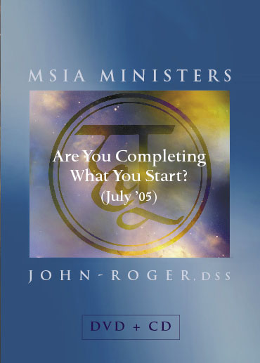 Are You Completing What You Start? DVD/CD Set