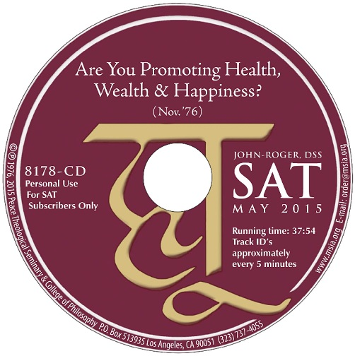 Are You Promoting Health, Wealth & Happiness? CD