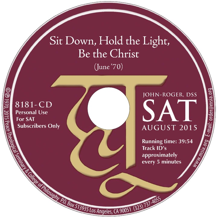 Sit Down, Hold the Light, Be the Christ CD
