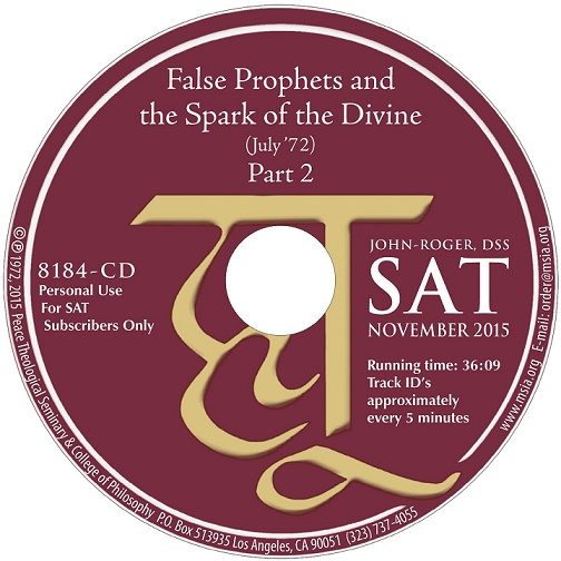 False Prophets and the Spark of the Divine- Part 2 CD