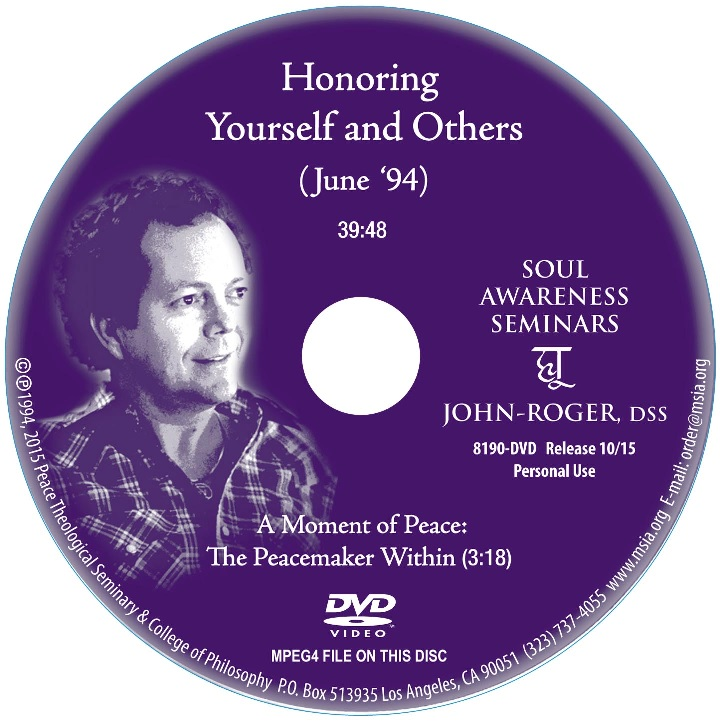 Honoring Yourself and Others DVD