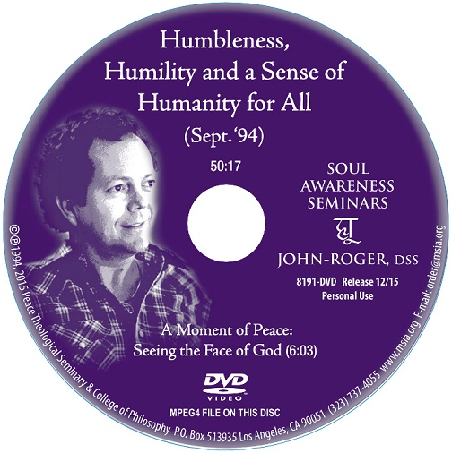 Humbleness, Humility, and a Sense of Humanity for All DVD