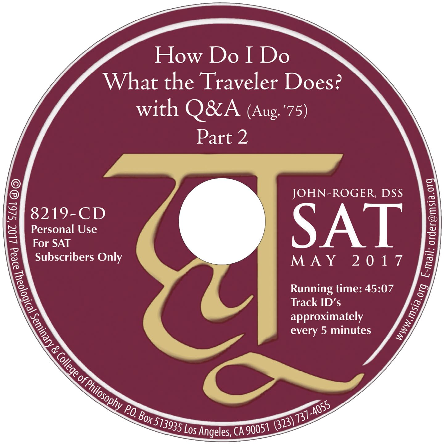How Do I Do What the Traveler Does? with Q&A Part 2 MP3