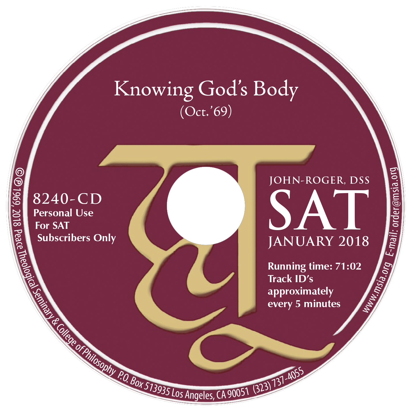 Knowing God's Body MP3