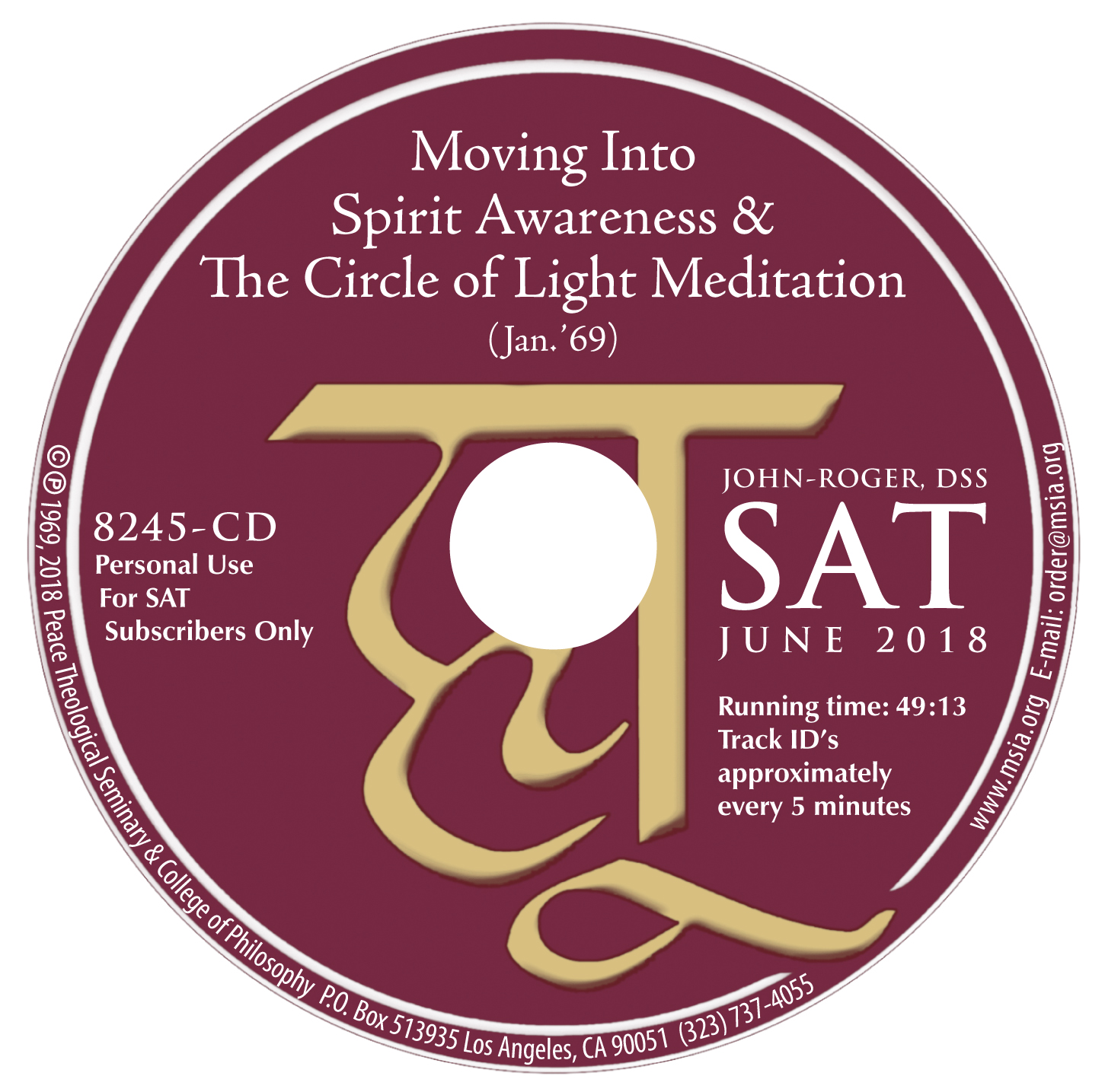 Moving Into Spirit Awareness & The Circle of Light Meditation MP3