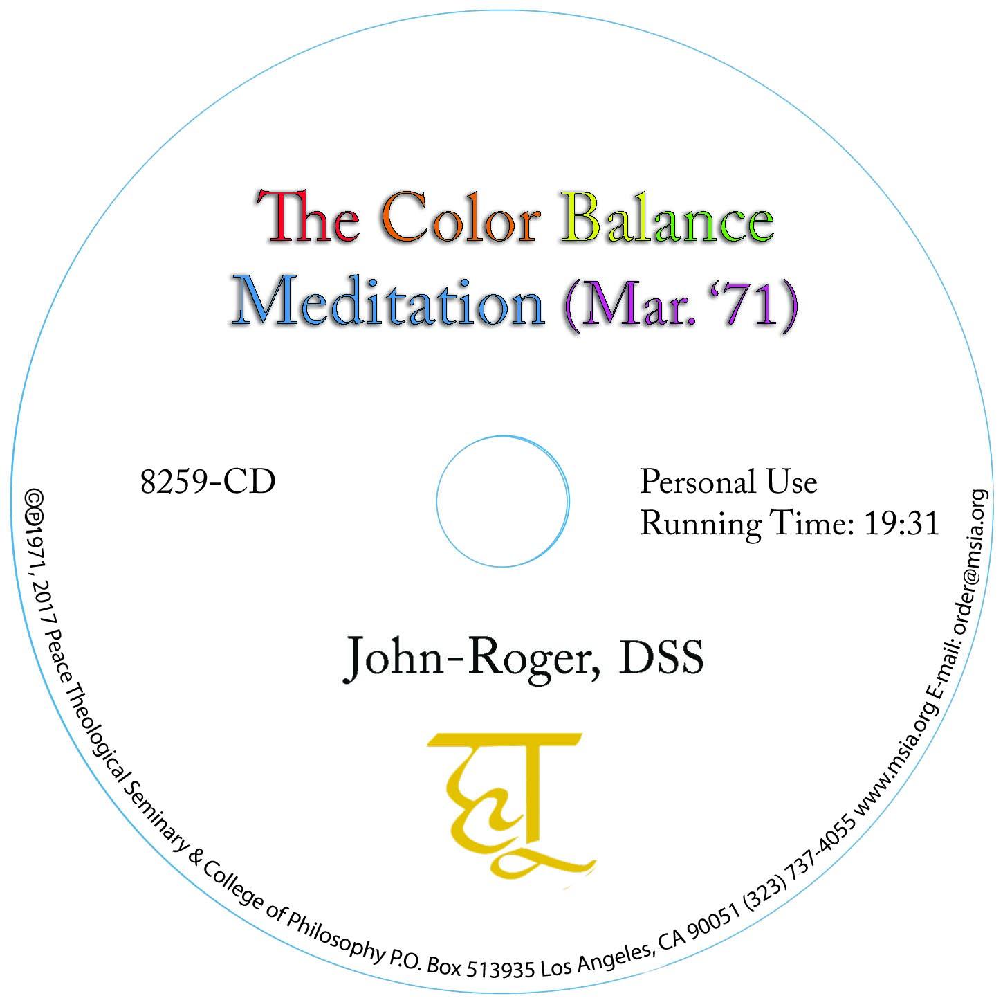 *NEW* The Color Balance Meditation MP3