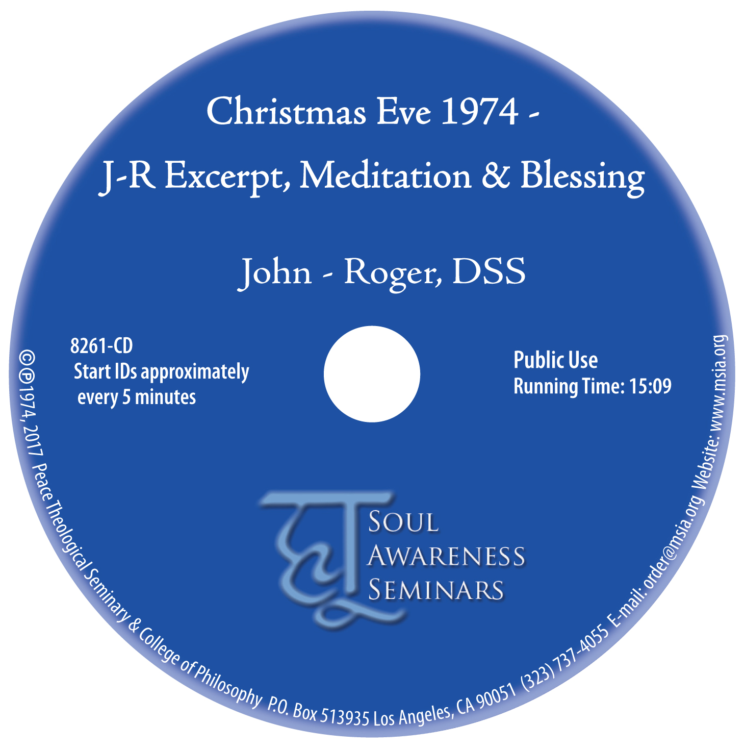 Christmas Eve 1974 - J-R Excerpt, Meditation & Blessing MP3